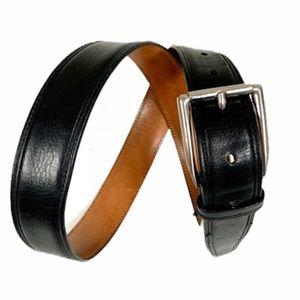 TRAFALGAR Black Brookfield Leather Buckle Belt -31